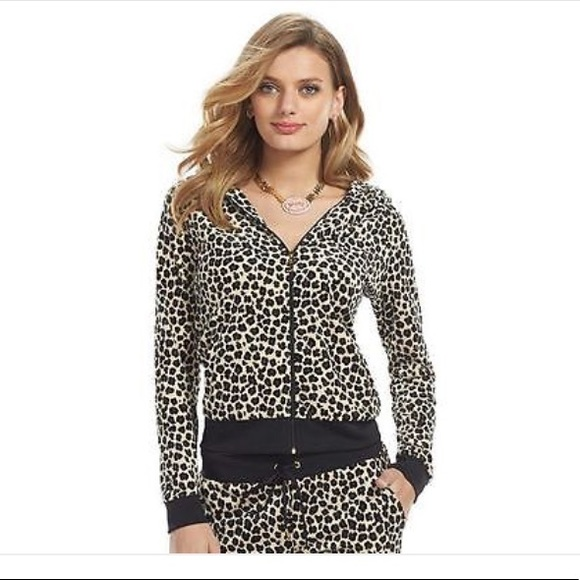 Juicy Couture Sweaters - Juicy couture leopard zip up sweater🐆❤️